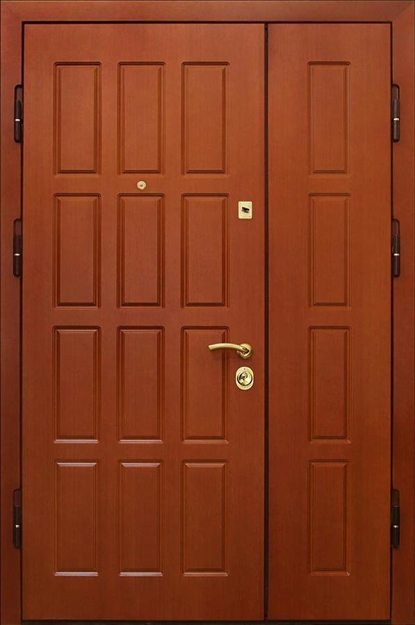 двухстворчатая железная дверь в подъезд